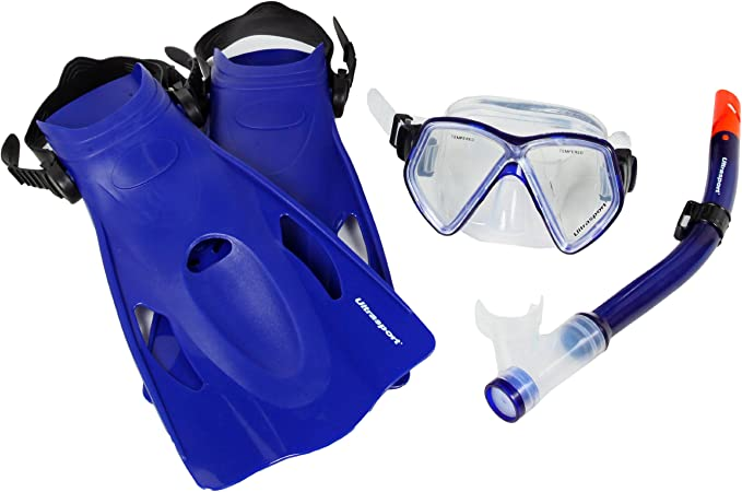 Ultrasport Miami - Set de Snorkel, Color Azul: Amazon.es ...