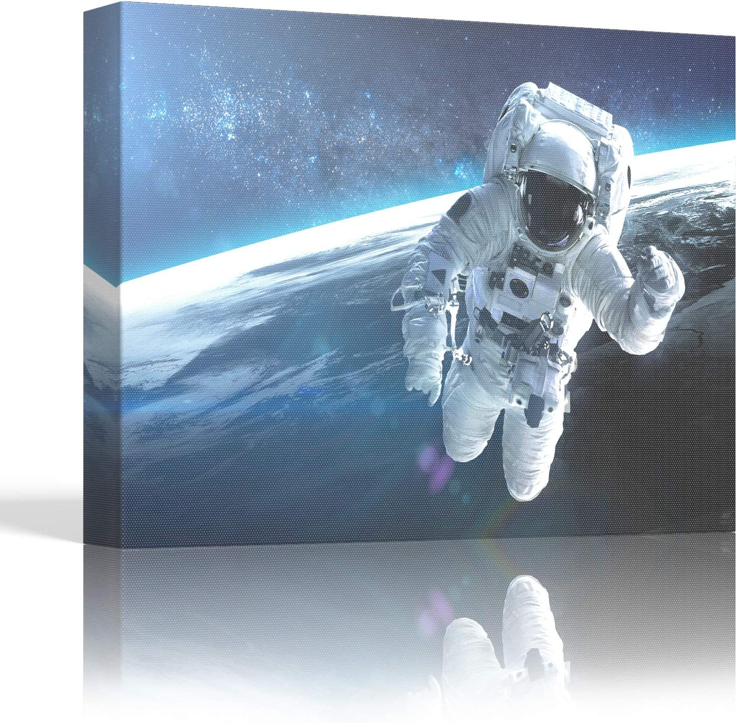 Canvas Wall Art - Astronaut Canvas, Space Wall Art Decorations for Teen Boy Wall Decor. Framed Wall Art For Men, Ready to Hang Canvas Print, Great for Classroom Decor, Bedroom, Bathroom, Office, Dorm