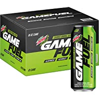12-Pack Mountain Dew AMP GAME FUEL 16 fl oz. cans (Charged Original Dew)