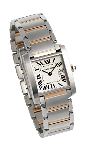 Cartier Tank Française - Reloj (Reloj de Pulsera, Femenino, Acero Inoxidable, Oro