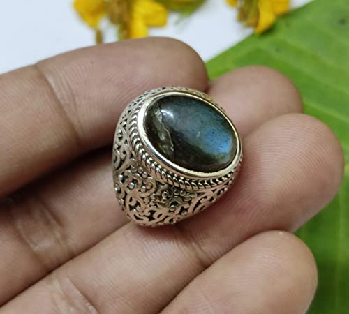 925 Sterling Silver Ring Labradorite Vintage Ring For Gift Natural Labradorite Gemstone Handmade Ring In Vintage Style Designer Ring