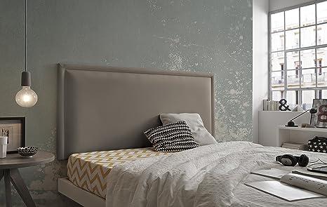 Living Sofa CABECERO Doble Marco Luxury DE Alta Gama TAPIZADO EN Micro Piel Color Moka 145 x 80 Todas Las Medidas