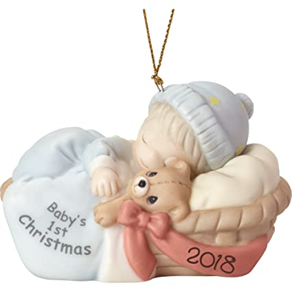 precious moments first christmas 2018 baby boy ornament multicolor - Baby Boy First Christmas Ornament