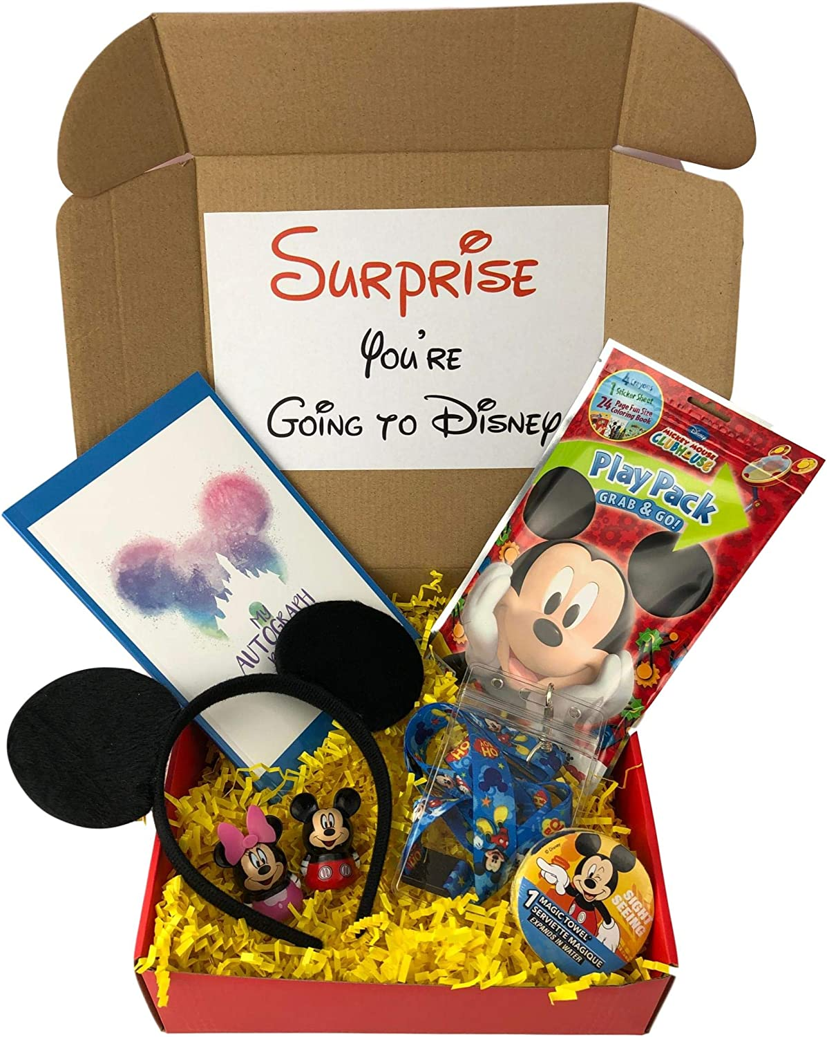 KKC Deluxe Mickey Vacation Gift for Boys with Park Accessories Including Ears and Autograph Book Red