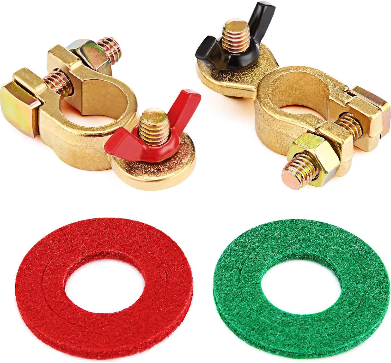 2 pezzi Sidougeri connettori in ottone Morsetti di ricambio per batteria auto
