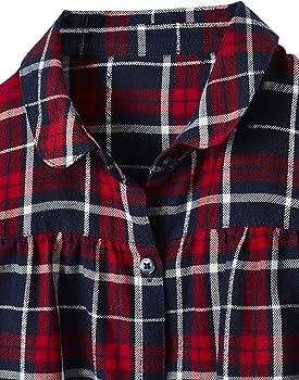 VERTBAUDET Camisa a Cuadros para niña Azul Oscuro A Cuadros 9A: Amazon.es: Ropa y accesorios