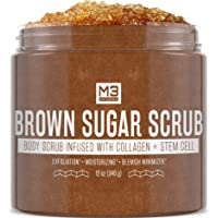 M3 Naturals Brown Sugar Scrub Infused with Collagen and Stem Cell Natural Souffle...