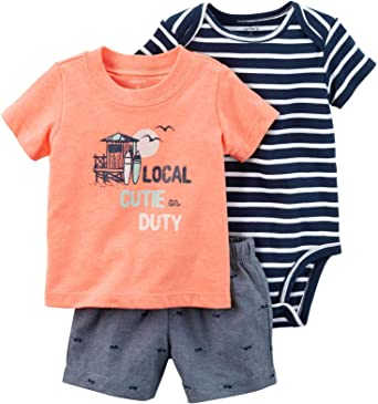 9 Months Baby - Orange Carters Baby Boys Graphic Tee