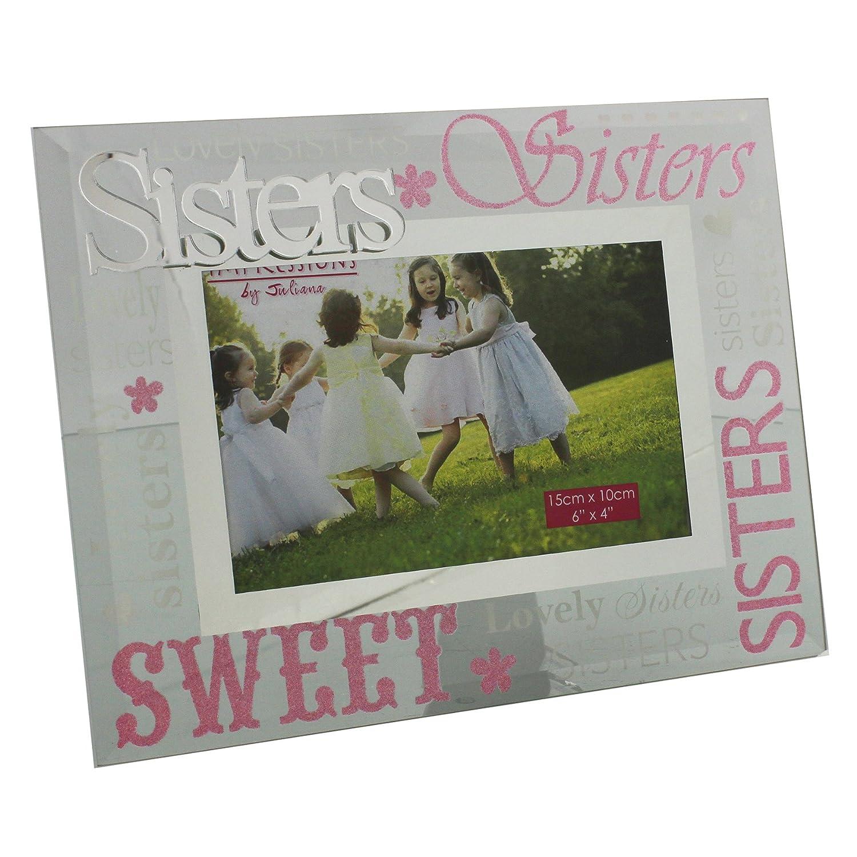 Amazon.de: Schwestern lila und pink Bilderrahmen LOVELY Geschenk für ...