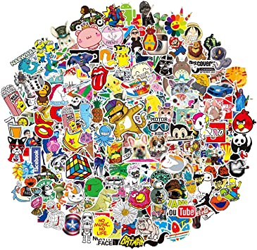 Decals Vinyls For Laptop,Kids,Cars,Motorcycle,Bicycle,Skateboard Luggage,Bumper 200-Pcs Featured Stickers 200 Pcs ,Suitable For Children And Adults Of All Ages,Fast Shipped By
