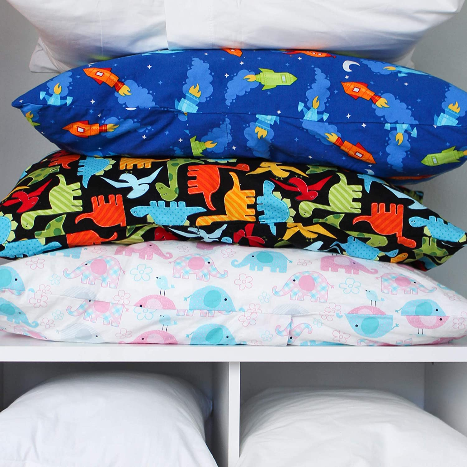Cars, 13x18 Made for Little Sleepy Head Toddler Pillow 13 X 18-100/% Cotton Naturally Hypoallergenic Made in USA! Toddler Pillowcase