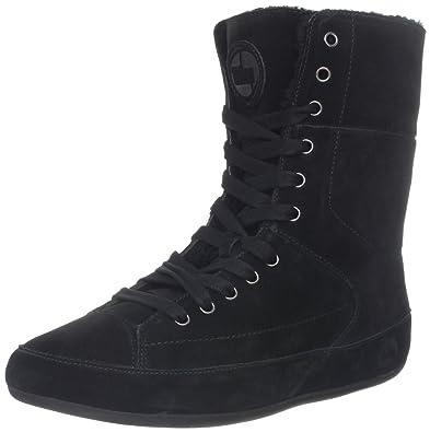 Fitflop - botas de nieve de ante mujer, color negro, talla 35