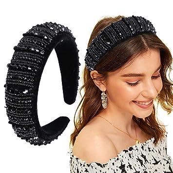Fashion Women/'s Crystal Rhinestone Headband Hairband Hair Hoop Non-Slip Headwear
