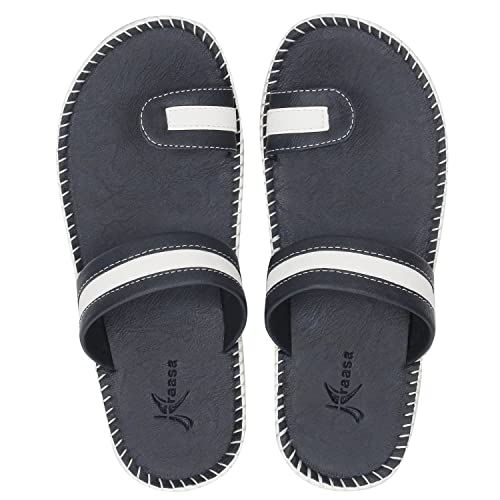59a8b30321e4 Kraasa Men s Leather Slippers  Buy Online at Low Prices in India ...