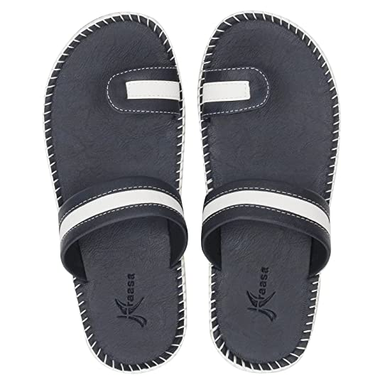 Kraasa Men's Leather Slippers Men's Fashion Sandals at amazon