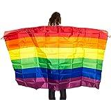 Capa colorida con diseño de bandera de arco iris, manga de accesorio básico de orgullo gay