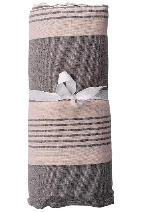 HomeLife – Foulard Multiusos – Tela Decorativa Cubre sofá con diseño de Rayas, 160x280, fabricación Italiana – Granfoulard de algodón – Cubrecama ...