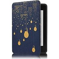 Capa Novo Kindle Paperwhite à Prova D'água WB® Ultra Leve Auto Hibernação Sensor Magnético Silicone Flexível Luzes