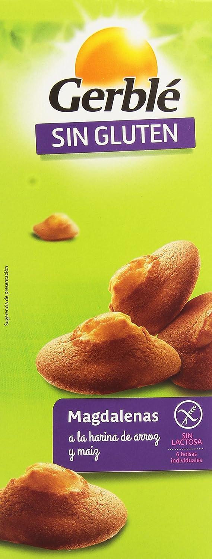 Gerblé Sin Gluten Magdalenas a la Harina de Arroz - Pack de 6 x 30 g - Total: 180 g
