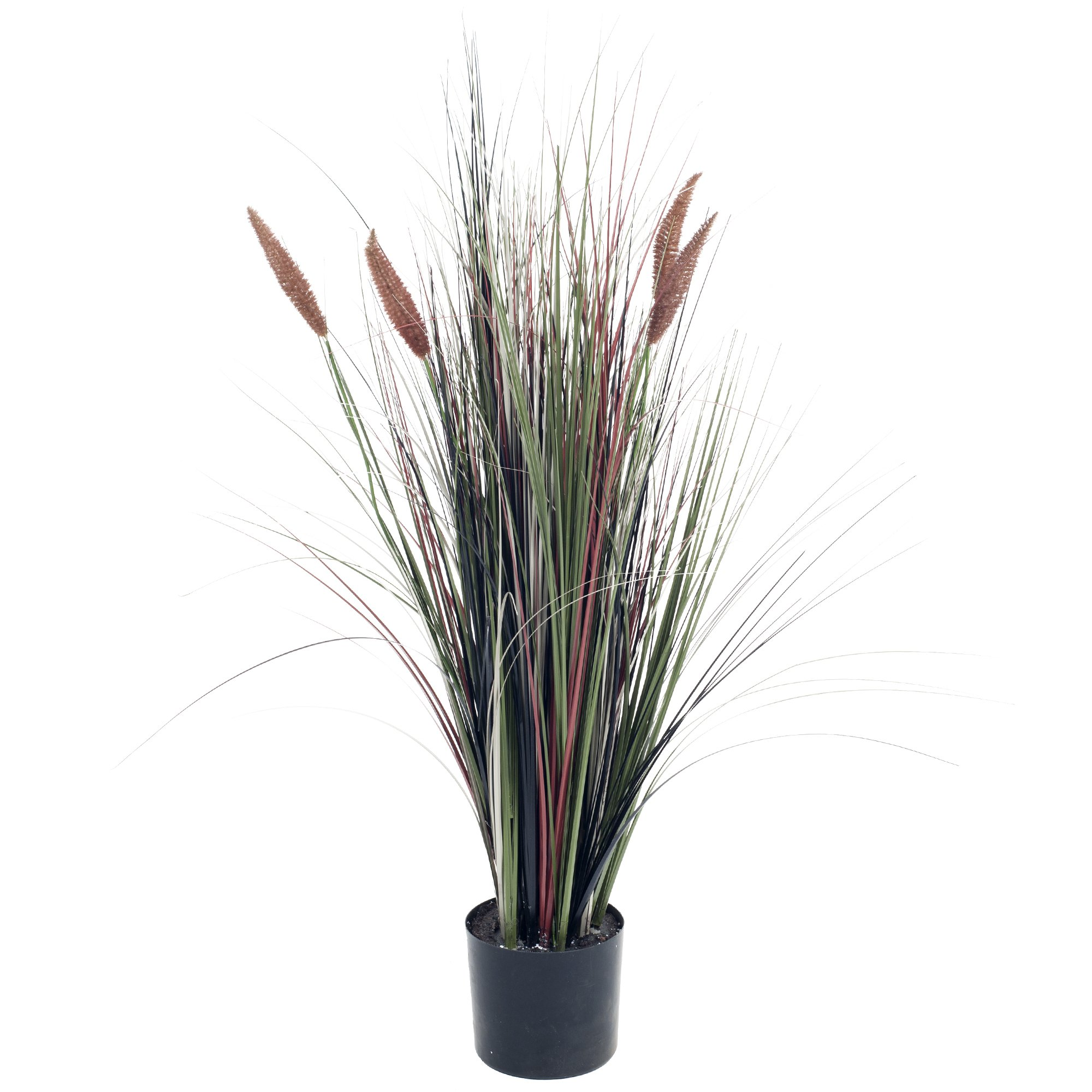 Pure Garden 4 Foot Artificial Cattail Grass - Large Faux Potted Plant for Indoor or Outdoor Decoration at Home, Office, or Restaurant by Pure Garden