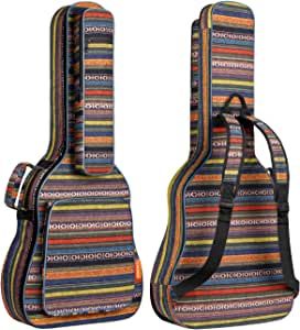 CAHAYA Funda para Guitarra Estilo Bohemia Bolsa Guitarra Clasica Acústica Acolchada de 15,6mm con 3 Bolsillos para Guitarra de 40 41 42 Pulgadas: Amazon.es: Instrumentos musicales