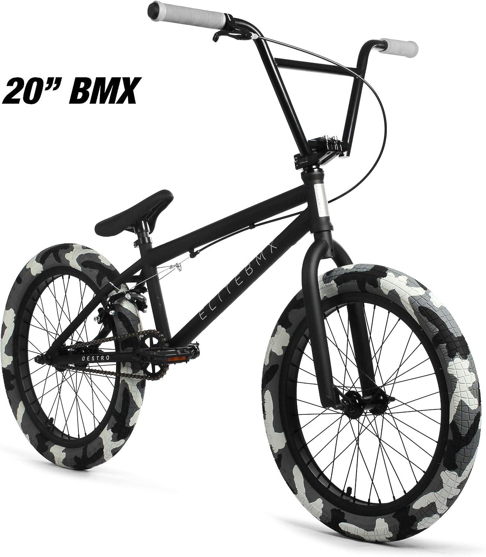 """Elite 20/"""" BMX Destro Bicycle Freestyle Bike 3 Piece Crank Raw Blue NEW 2019"""