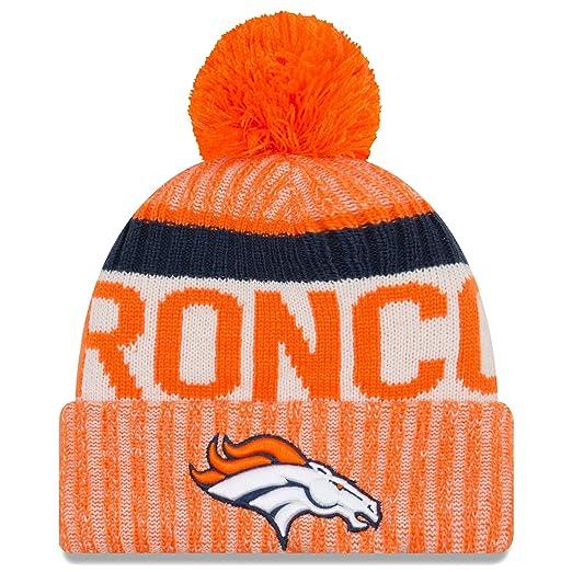 f8a624c3ad7 Amazon.com  New Era Denver Broncos 2017 On-Field Sport Knit Beanie ...