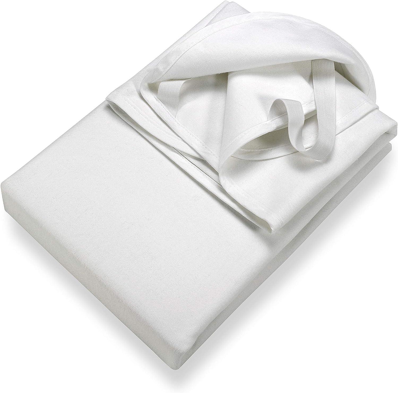 Setex Protecteur de matelas imperm/éable en molleton pour zone centrale,blanc,90 cm x 150 cm
