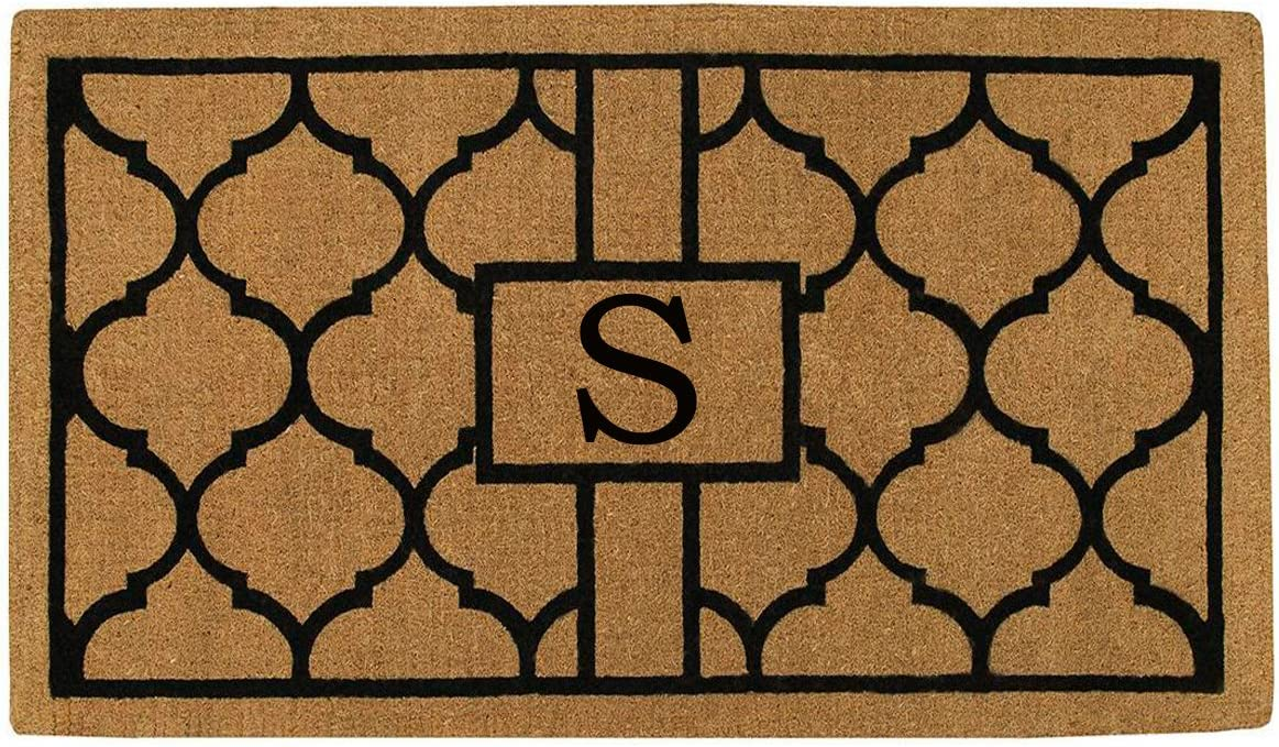 Home More 180082436S Pantera 2 X 3 Extra-Thick Monogrammed Doormat Letter S