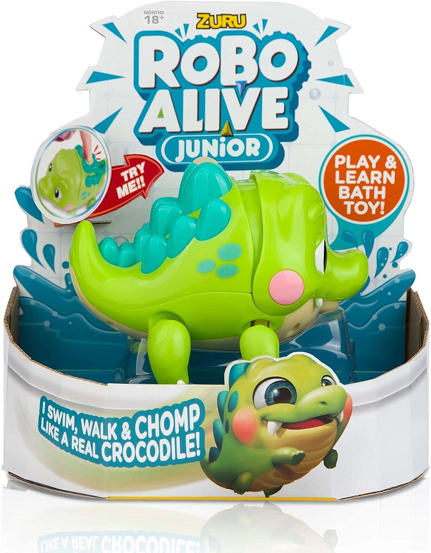 Robo Alive Junior Battery-Powered Baby Crocodile Bath Toy by ZURU