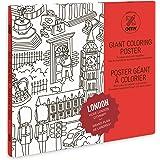 OMY Poster  géant à colorier de Londres-format encadrable (70 x 100 cm)