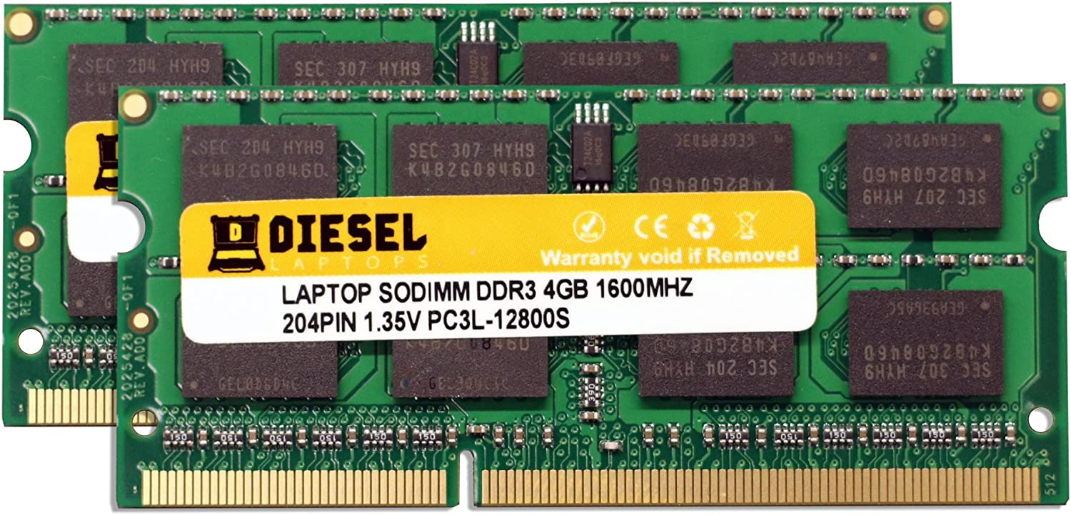 16GB 16G 2x 8GB Laptop RAM DDR3-1600 2RX8 PC3-12800S 12800 204PIN SODIMM Memory