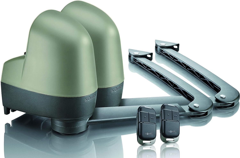 Somfy 2400853 - Motorisation de Portail à bras SGA 4100 | Motorisation pour Portail battant jusqu'à 3,60 m | Livrée avec 2 télécommandes Keypop RTS