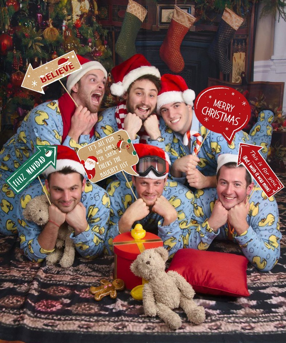 Amazon.com: 20Ct Christmas Party Photo Booth Props - Funny Xmas ...