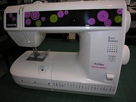 Toyota máquina de coser (brazo libre ESL G21 21 metal garra y picaduras de 21 knittax Edition con bolsa: Amazon.es: Hogar