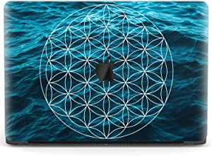Mertak Hard Case for Apple MacBook Pro 16 Air 13 inch Mac 15 Retina 12 11 2020 2019 2018 2017 Sacred Geometry Boho Texture Water Design Touch Bar Clear Flower of Life Laptop Protective Print Cover