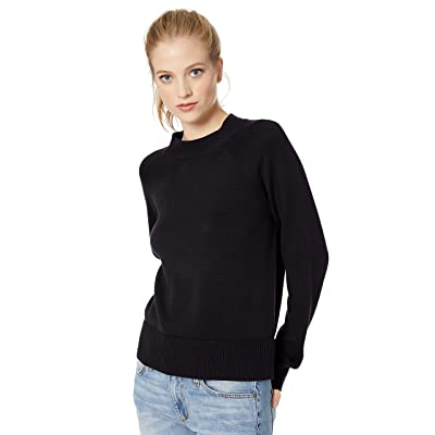 Brand - Daily Ritual Women's 100% Cotton Mock-Neck Pullover Sweater: Clothing