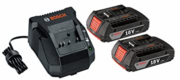 Amazon.com: Bosch bat612 – 2PK 18-volt iones de litio 2.0 Ah ...