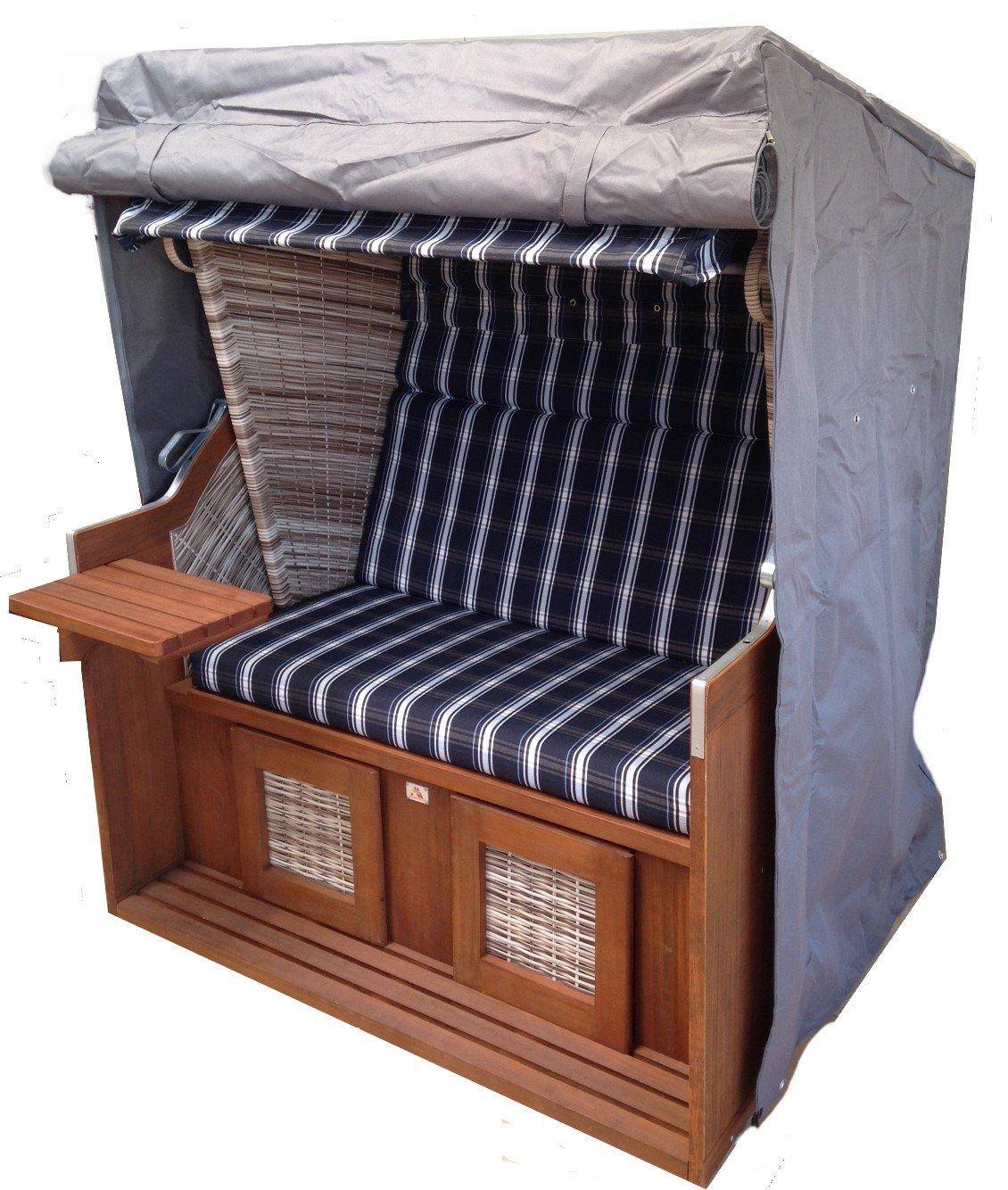 Strandkorbhülle Strandkorbhaube Comfort Premium 130cm x 100cm grau osoltus