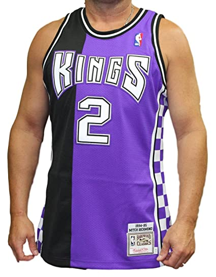 129298d33b8a Image Unavailable. Image not available for. Color  Mitchell   Ness Mitch  Richmond Sacramento Kings Authentic 1994-95 NBA Jersey
