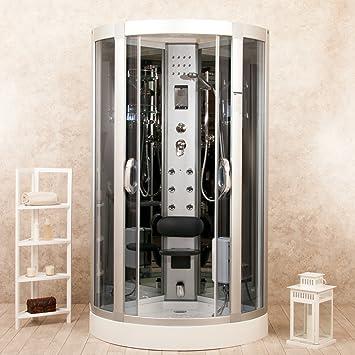 eden 90x90 box doccia idromassaggio sauna bagno turco e ozonoterapia