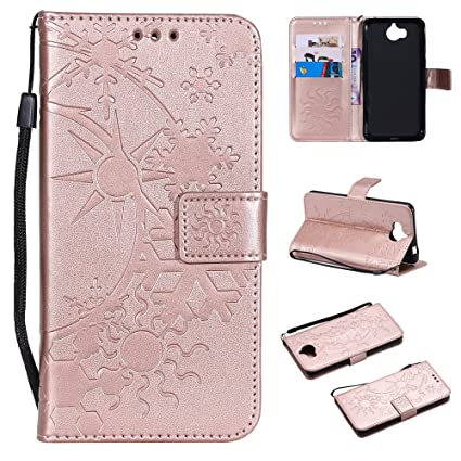 Amazon com: NCTECHINC Huawei Y5 2017 Leather Wallet Case with
