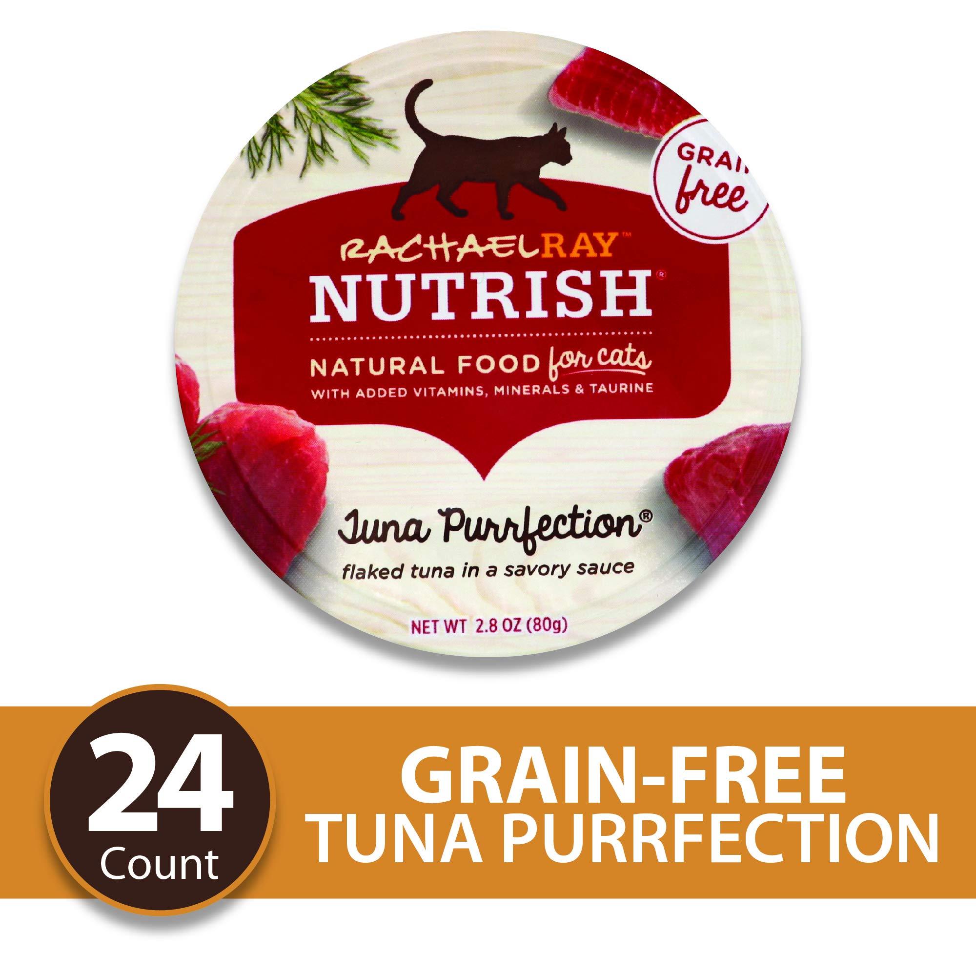 Rachael Ray Nutrish Natural Premium Wet Cat Food, Tuna Purrfection, Grain Free, 2.8 Oz. Tub (Pack Of 24) by Rachael Ray Nutrish