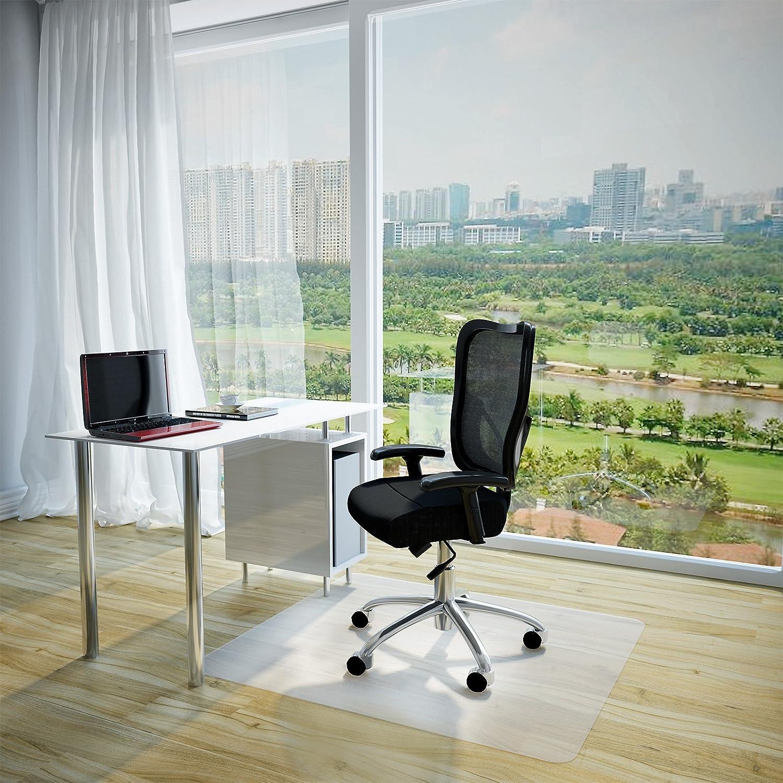Jago Tappeto protettivo di protezione 90x120 cm, parquet, laminato ecc, casa, ufficio, plastica, bianco BSUL02
