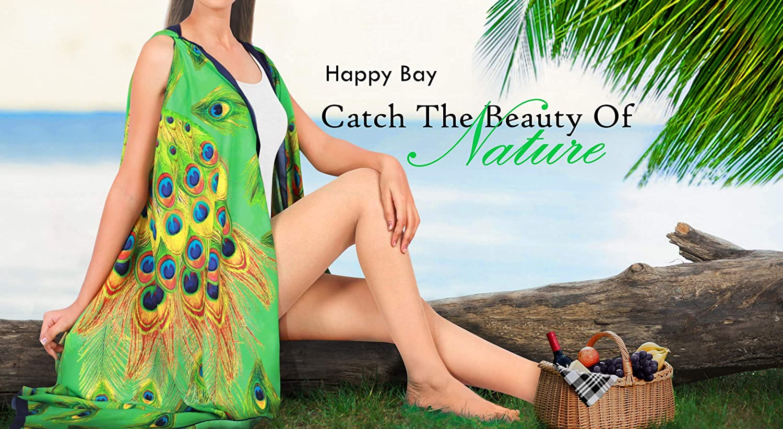 HAPPY BAY Womens Boho Swimsuit Bikini Beach Cover Ups for Swimwear Short Mini