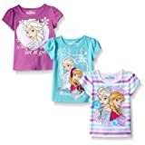 Amazon Price History for:Disney Girls' 3 Pack Frozen T-Shirts