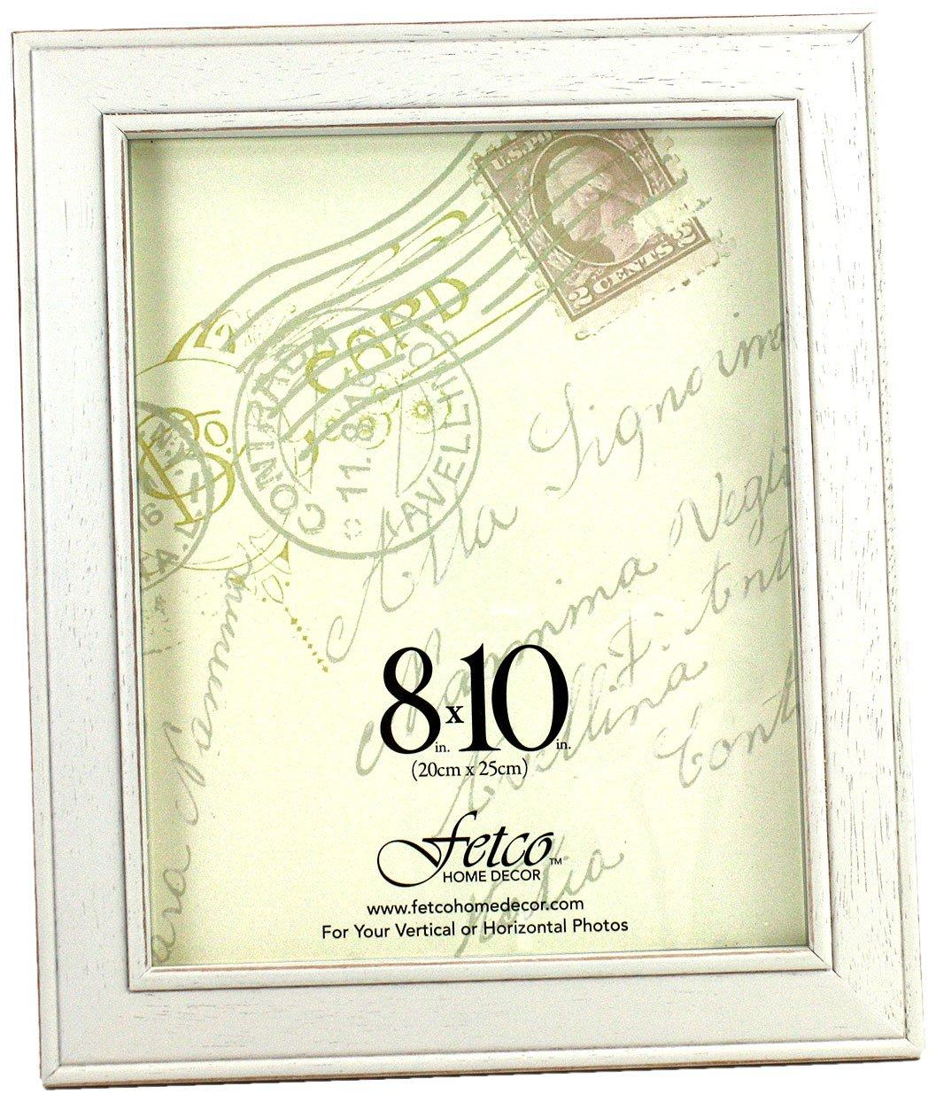 Amazon.com - Fetco Home Décor F464480 Longwood Frame, Rustic White ...