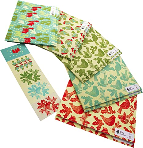 UMBRELLAS gift-wrap eco-friendly wrap 2 sheets of 70x50cm quality