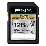 PNY Elite Performance 128 GB High Speed SDXC Class 10 UHS-I, U3 up to 95 MB/Sec Flash Card (P-SDX128U395-GE)