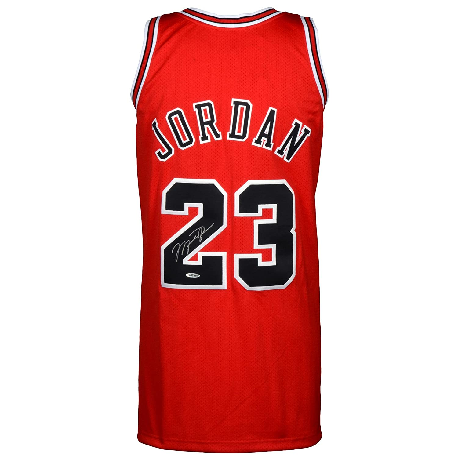 Michael Jordan Chicago Bulls Autographed 1997-98 Mitchell   Ness Red Jersey  - Upper Deck - Fanatics Authentic Certified at Amazon s Sports Collectibles  ... 361599c28c3